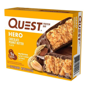 Quest Hero Chocolate Peanut Butter Protein Bar - 4ct/7.62oz Total