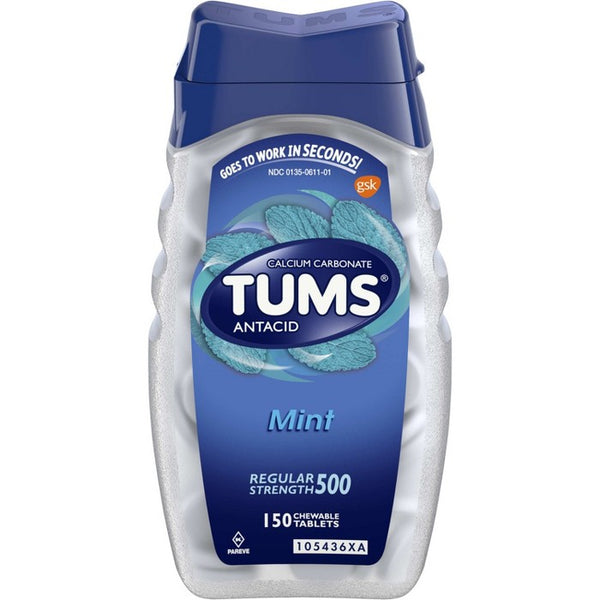 TUMS Regular Strength Antacid Chewable Tablets - Mint - 150ct