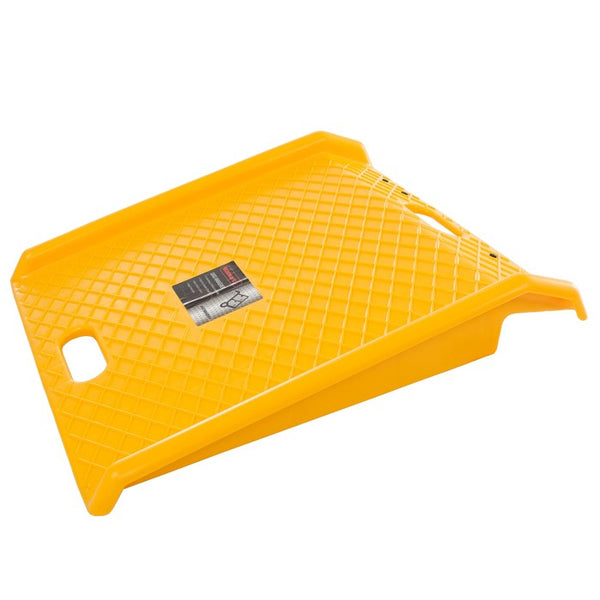 Stalwart Heavy Duty 1000lb Weight Capacity Portable Poly Ramp Yellow