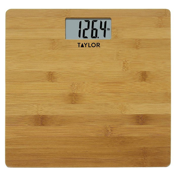Digital Bamboo Bathroom Scale Natural - Taylor