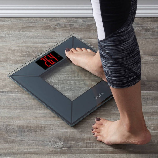 Digital Miter 3D Design Bathroom Scale Charcoal/Gray - Taylor