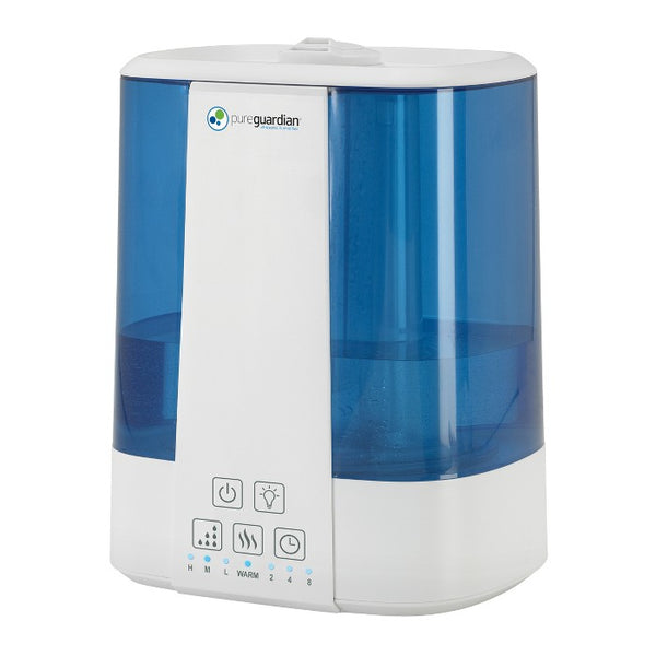 Pure Guardian H5225WCA Top Fill Ultrasonic Cool and Warm Mist Humidifier with Aromatherapy Tray Blue