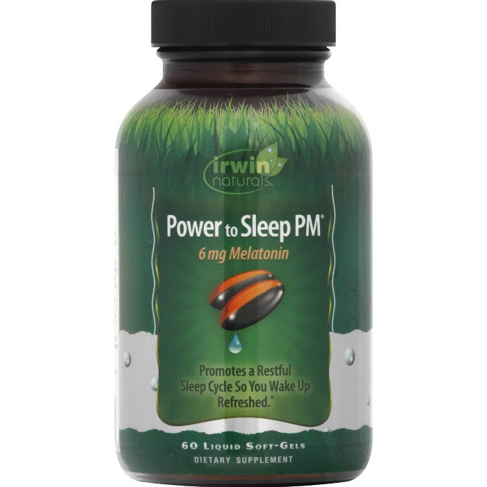 irwin naturals Power to Sleep PM Melatonin Dietary Supplement Liquid Softgels - 60ct