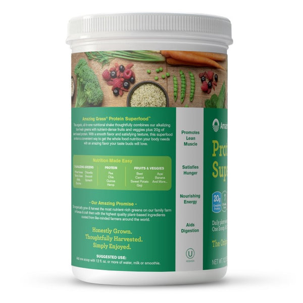 Amazing Grass Organic Vegan Protein SuperFood - Original - 12.2oz