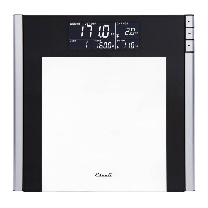Track and Target Bathroom Scale Black/Clear - Escali