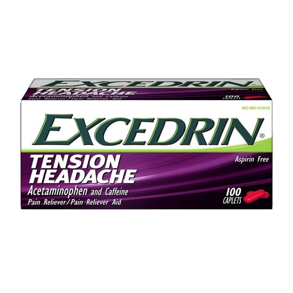 Excedrin Tension Head Ache Pain Reliever Caplets - Acetaminophen - 100ct