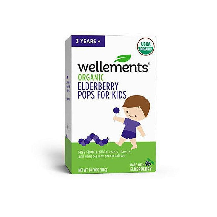 Wellements Organic Elderberry Pops - 10ct