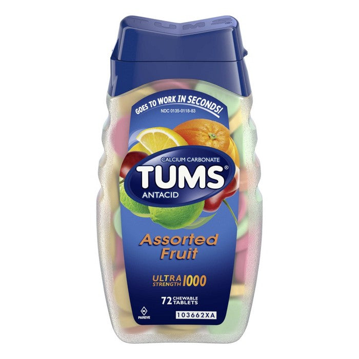TUMS Ultra Strength Assorted Fruit Antacid Chewable Tablets - 72ct