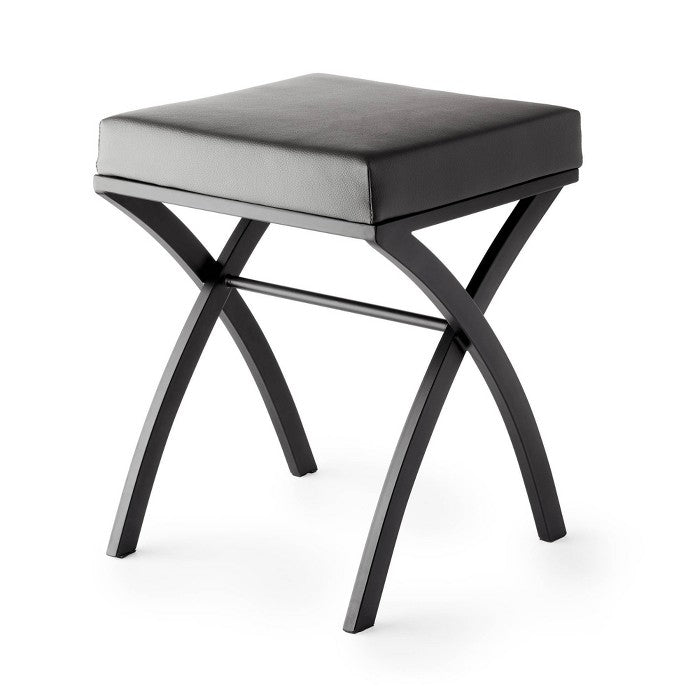 Onda Vanity Seat Matte Black/Gray - Better Living Products