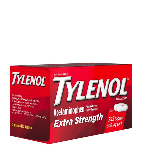 Tylenol Extra Strength Pain Reliever and Fever Reducer Caplets - Acetaminophen