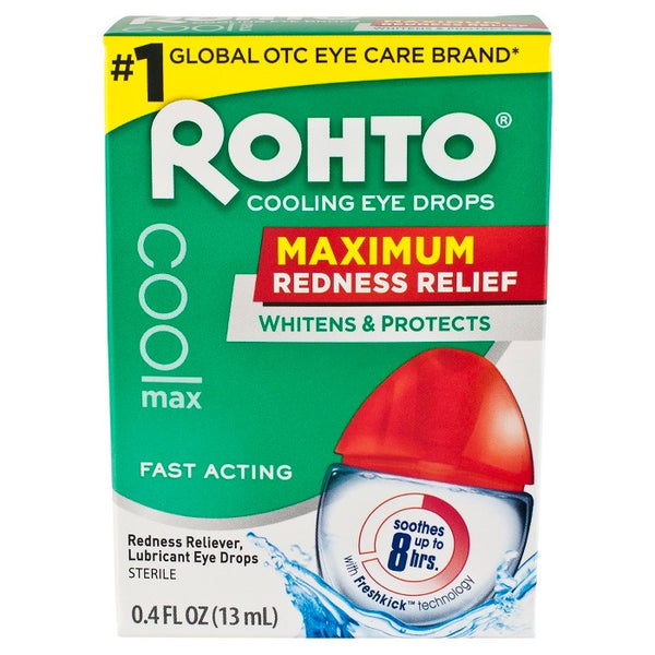 Rohto Maximum Redness Relief Cooling Eye Drops .4 fl oz