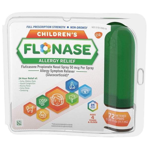 Flonase Children's Allergy Relief Nasal Spray - Fluticasone Propionate - 72 sprays - 0.38 fl oz
