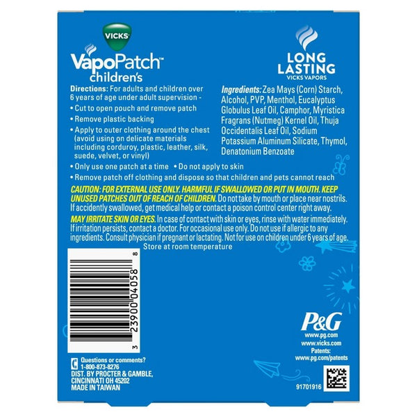 Vicks Children's VapoPatch With Long Lasting Soothing Vapors - Menthol - 5ct