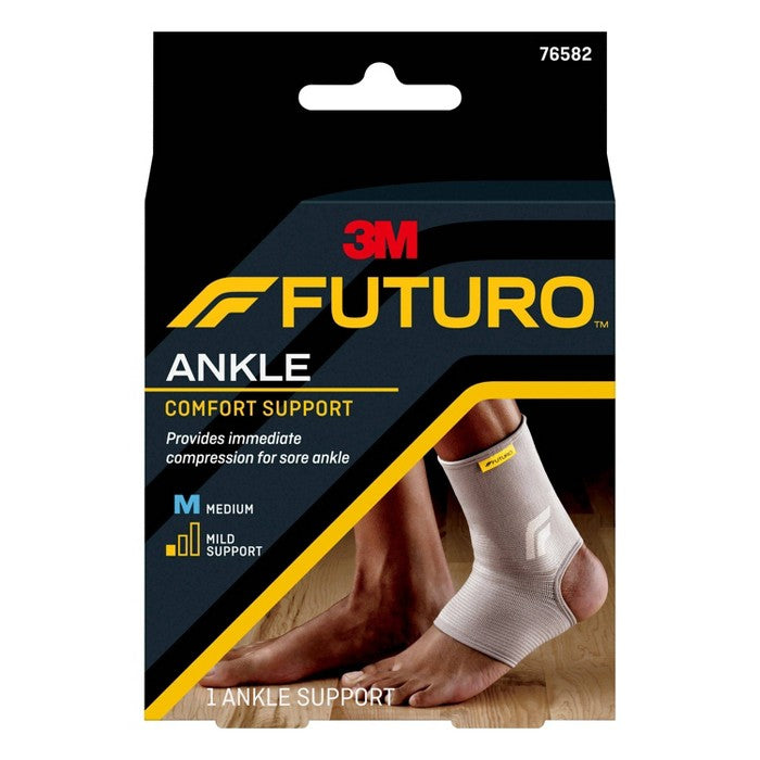 FUTURO Comfort Ankle Support with Breathable, 4-Way Stretch Material