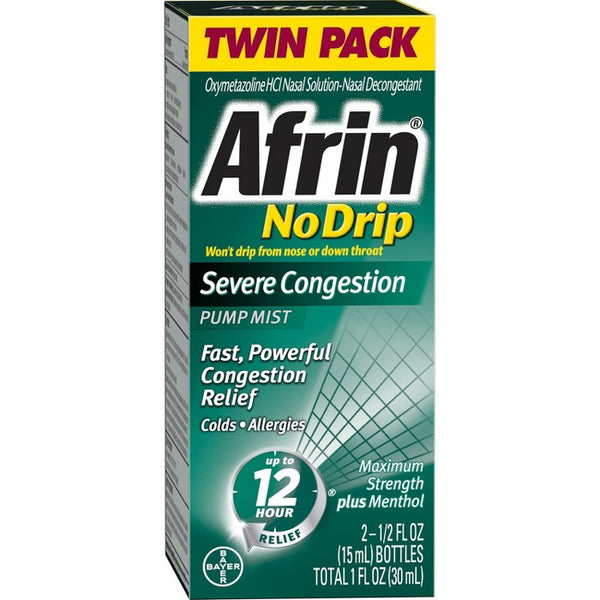 Afrin No Drip Severe Congestion Relief Nasal Spray