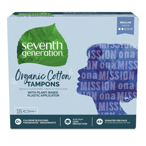 Seventh Generation Tampons with Comfort Applicator - 18ct