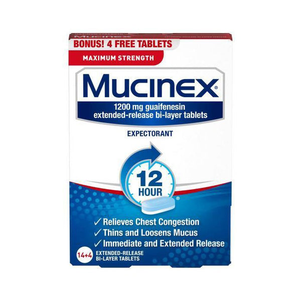 Mucinex Guaifenesin Max Strength Tablets - 18ct