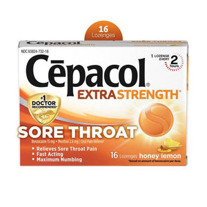 Cepacol Honey Lemon Lozenges -16ct