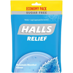 Halls Sugar Free Cough Drops - Mountain Menthol - 70ct