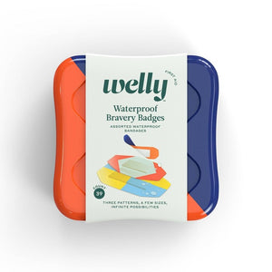 Welly Waterproof Bravery Badges Assorted Waterproof Bandages - 39ct