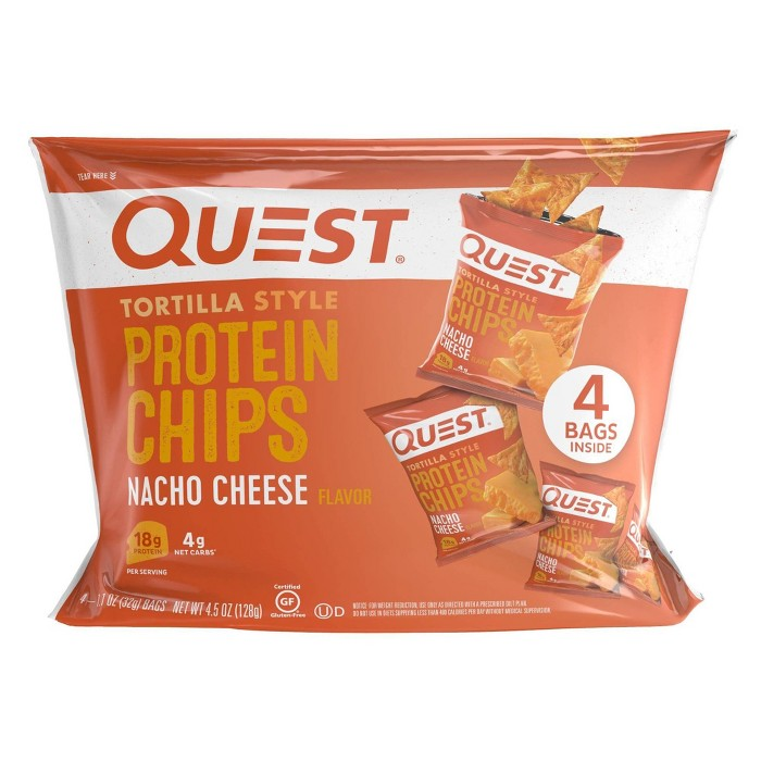 Quest Tortilla Style Protein Chips - Nacho Cheese - 4ct/4.5oz