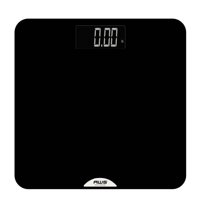 Rubberized Anti-Slip Platform Bathroom Scale Black - American Weigh Scales