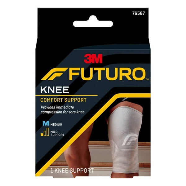 FUTURO Comfort Knee Support with Breathable, 4-Way Stretch Material