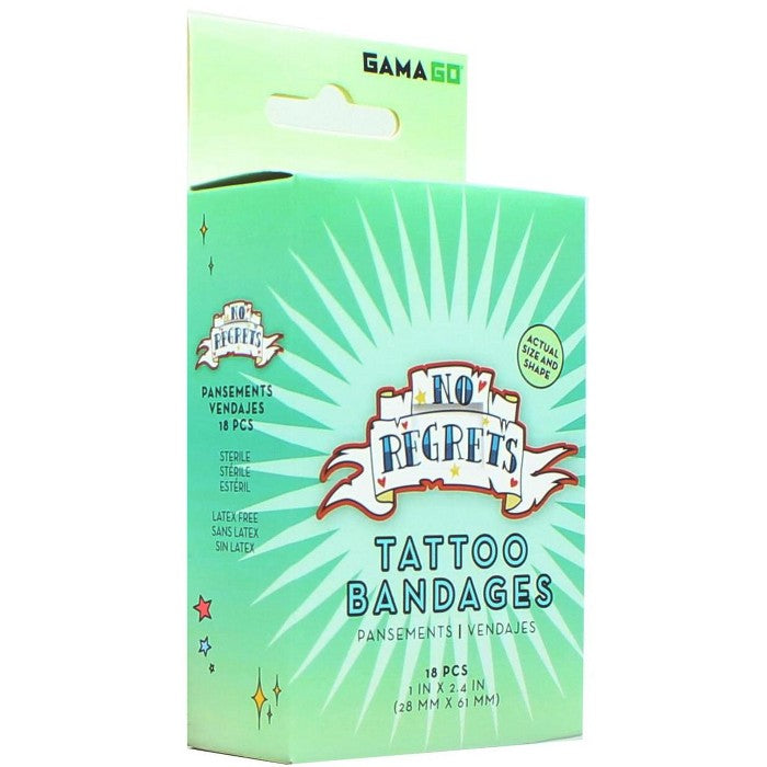 Gamago GAMAGO No Regrets Fake Tattoo Bandages | Set of 18