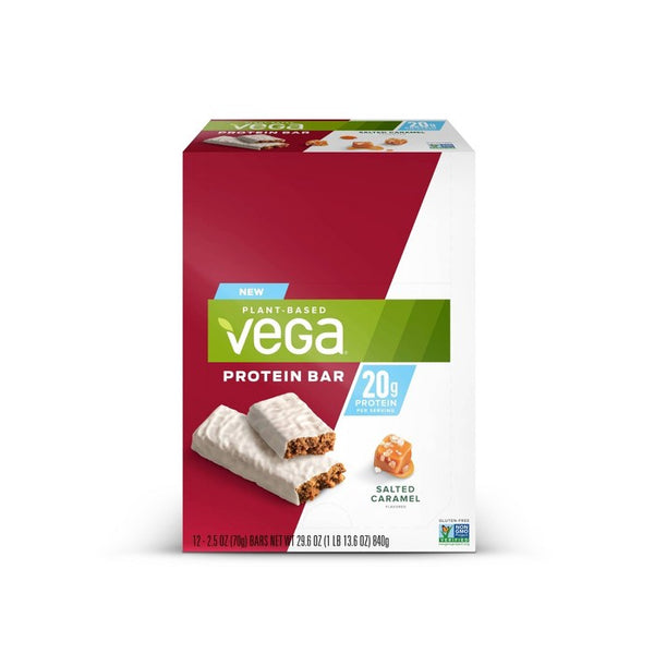 Vega 20g Protein Bar - Salted Caramel - 12ct/13.6oz Total