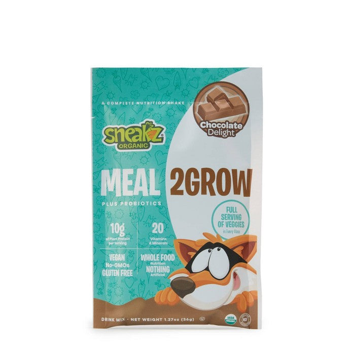 Sneakz Organic Meal2Grow Drink Mix - Chocolate - 10ct