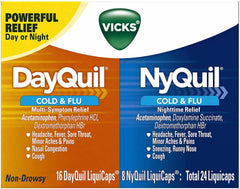 Vicks Dayquil/ Nyquil Severe  (24 Liquid Caps)