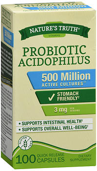 Probiotic Acidophilus 500 Million Active Cultures - 100 Quick Release Caps