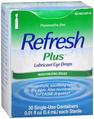 Refresh Plus lubricant eye drops - 30 Single-Use Containers (preservative free)