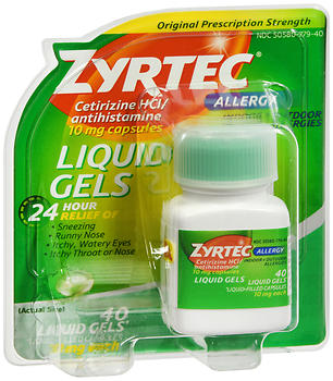 ZYRTEC Allergy (40 Liquid Gels)