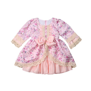 Cute Kids Baby Girls Princess Formal Dress Floral