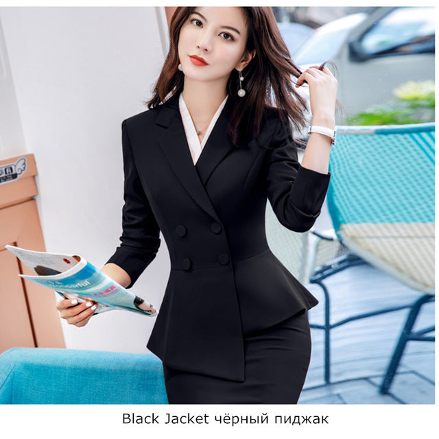 Set Blazer Jacket Trousers Costume Interview Host Business