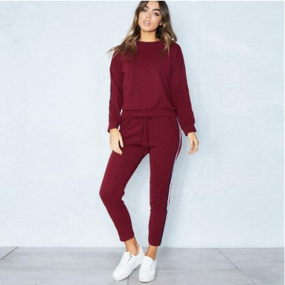 Autumn and winter fashion women's blouse suit solid color sports
