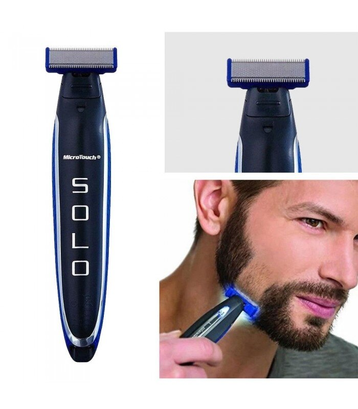 MICRO RECHARGEABLE SHAVER ELECTRIC BEARD MEN MICRO TOUCH ONLY PORTABLE