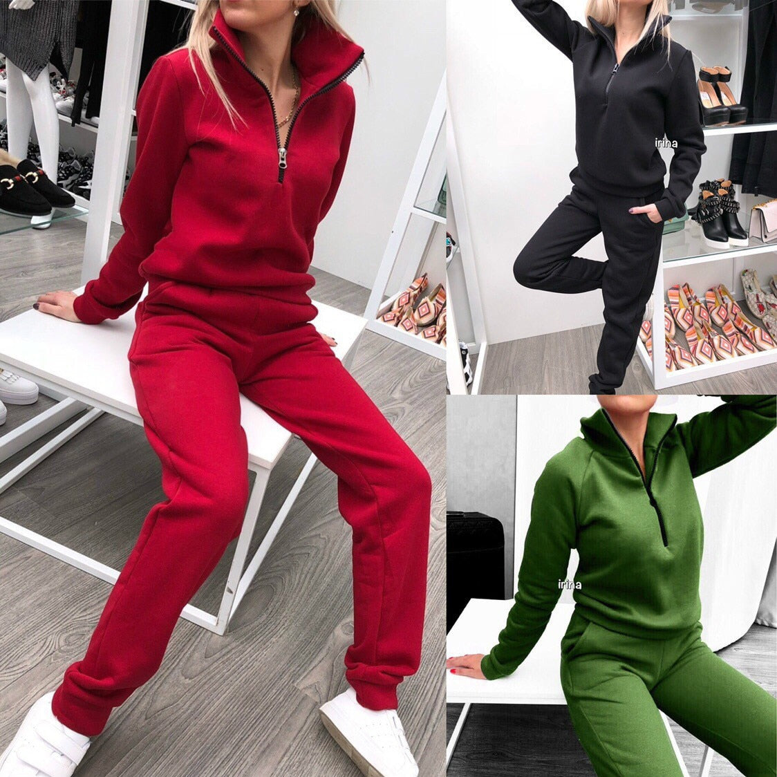 New Autumn Women's Casual Knitting Cashmere Sports