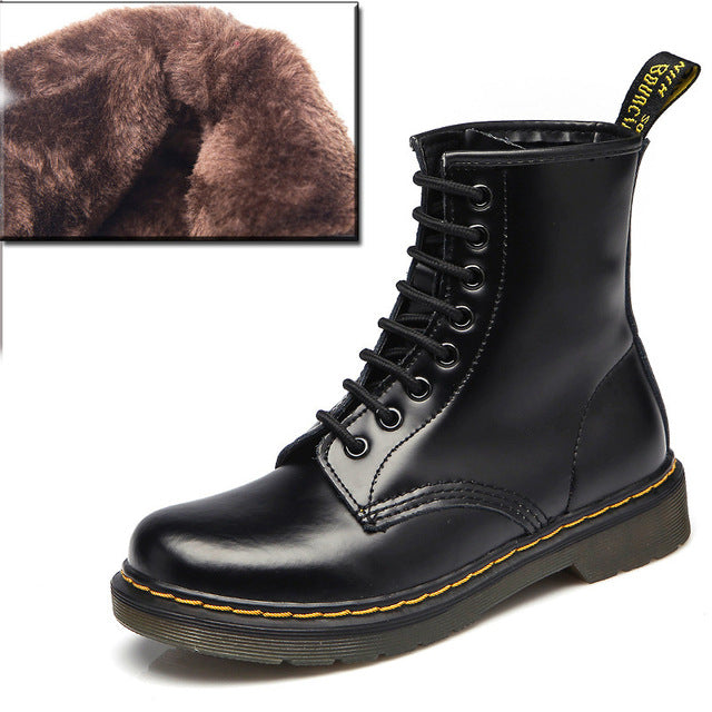 Boots Women Genuine Leather Shoes