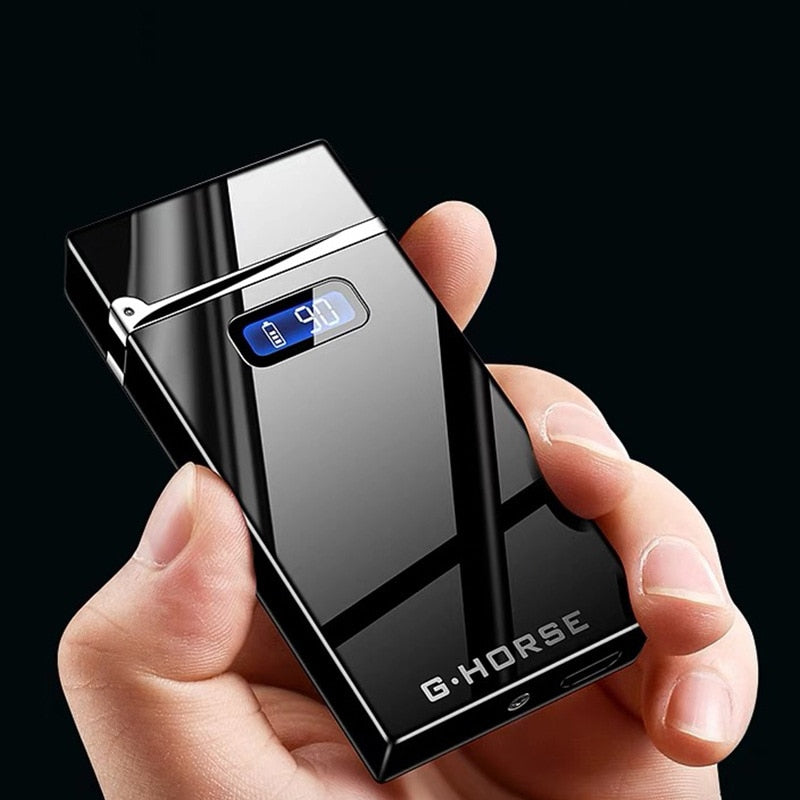 2019 New Electric Lighter With LED Power Display USB