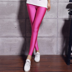 Shinny Elasticity Casual Trousers For Girl