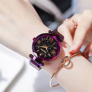 Luxury Women Watches Magnetic Starry