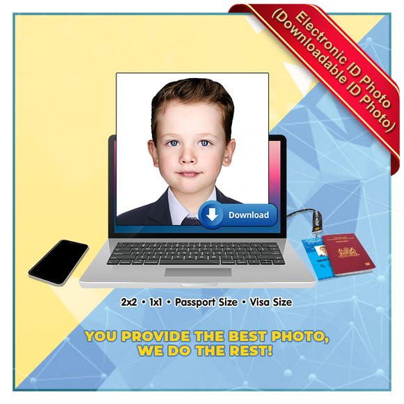 Electronic ID Photo for KIDS (2 x 2 , 1 x 1 - Passport Size, Visa Size) Downloadable ID Softcopy ONLY (Patent Number : 2-2016-000506)