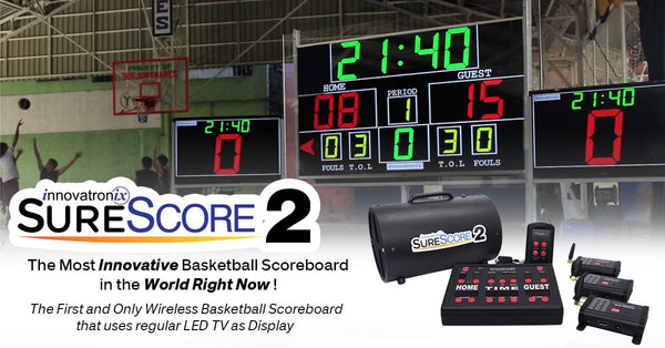 Innovatronix SureScore 2 SHOT CLOCK Display Receiver  ( Patent number : 2-2016-000509 )
