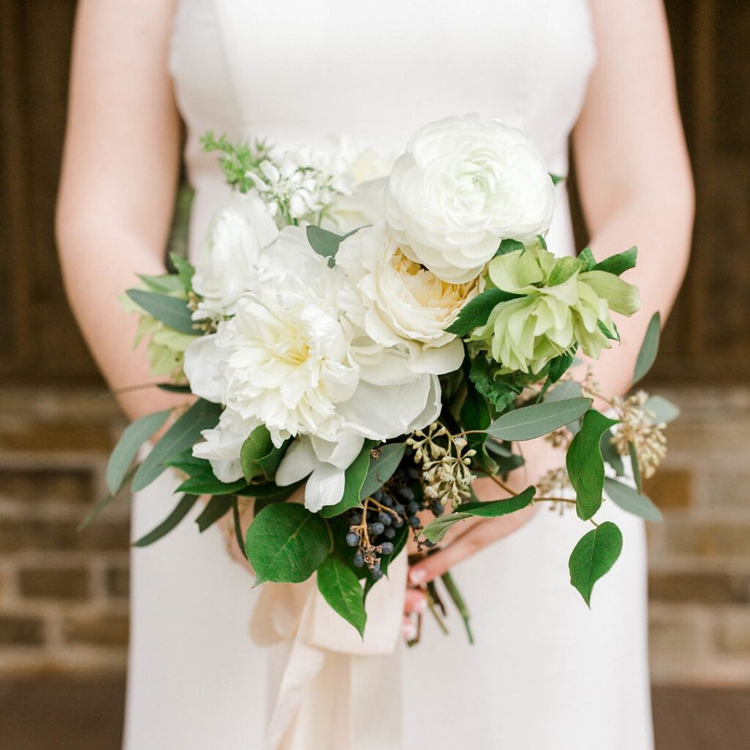 Garden White Bridesmaid Bouquet