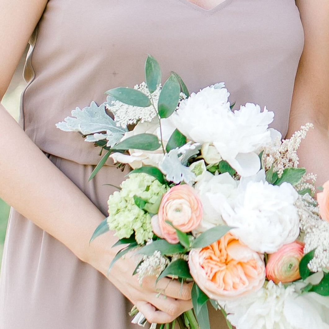 Blushing Bridesmaids Bouquet