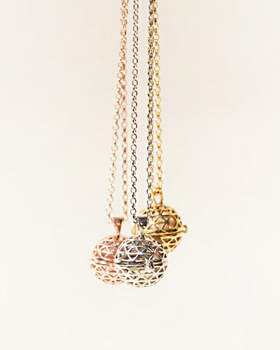 NECKLACE DIFFUSER GIFT silver gold