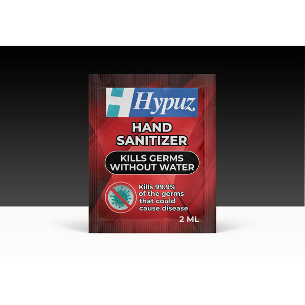 HYPUZ Hand Rub Sanitizer Sachet 2 ml Pack of 1000 pcs