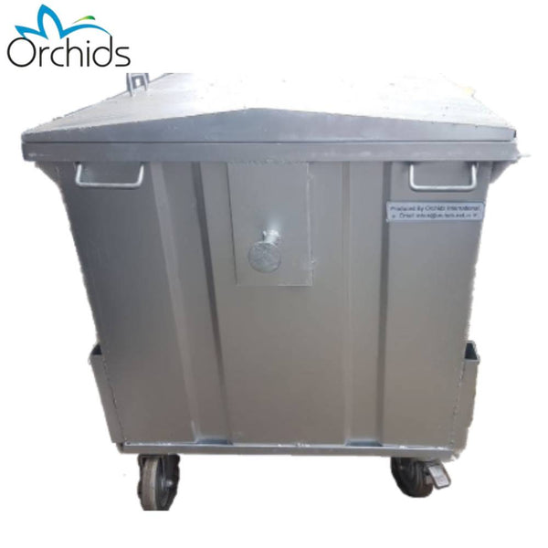 Orchids Metal Wheel Dustbin (1100 Liters)